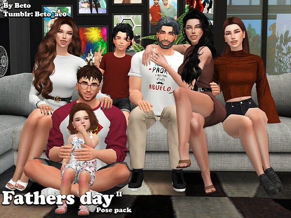 Fathers day II Pose pack  by Beto ae0 from TSR