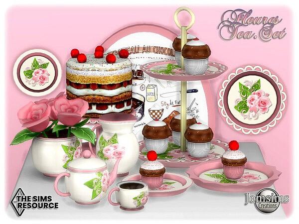 Fleures tea set