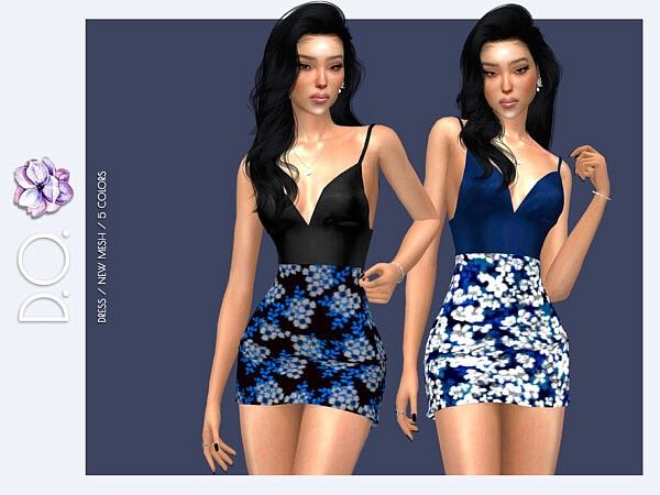 Floral Summer Evening Dress DO115