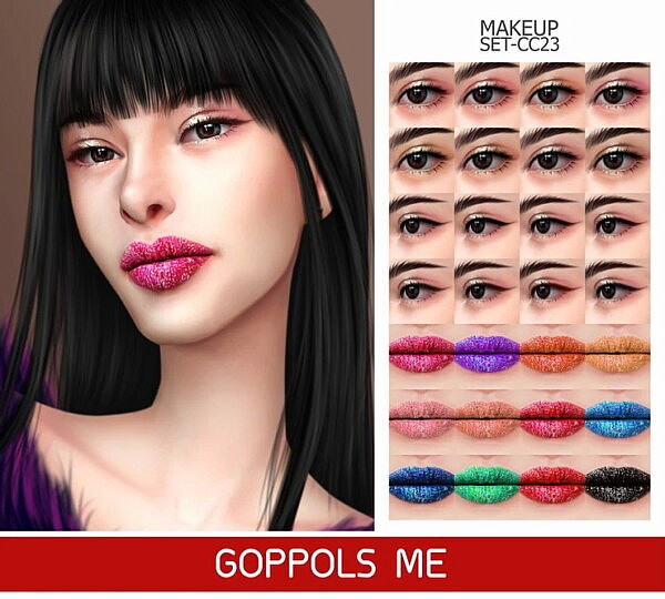 Gold Makeup Set CC23 from GOPPOLS Me