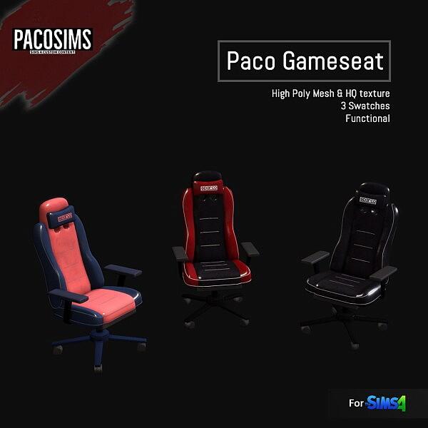 Gameseat sims 4 cc