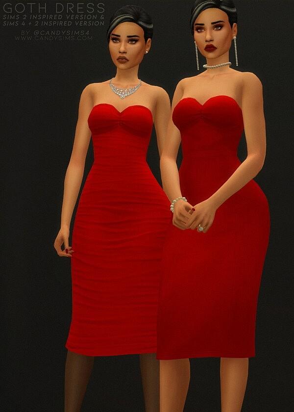 Goth Dress sims 4 cc