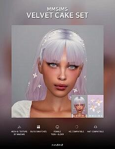 Hair Velvet cake and Flower ACC
