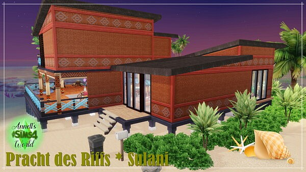 House Pracht des Riffs Sulani sims 4 cc