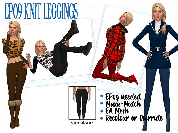 Knit Leggins from Sims 4 Sue