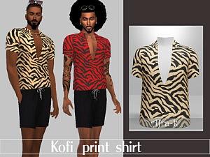 Kofi print shirt