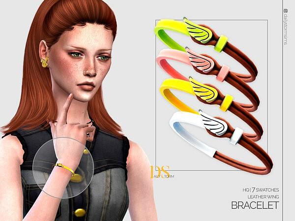 Leather Wing Bracelet