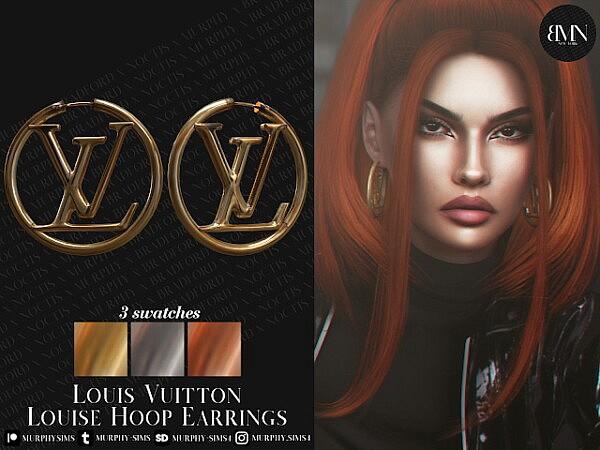Louise Hoop Earrings sims 4 cc