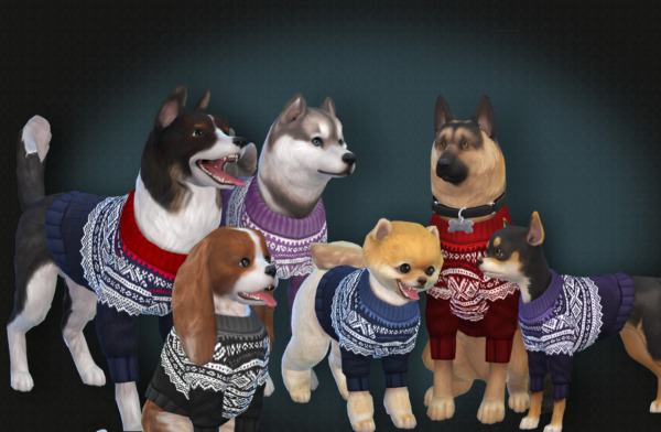 Marius Sweater for dogs sims 4 cc
