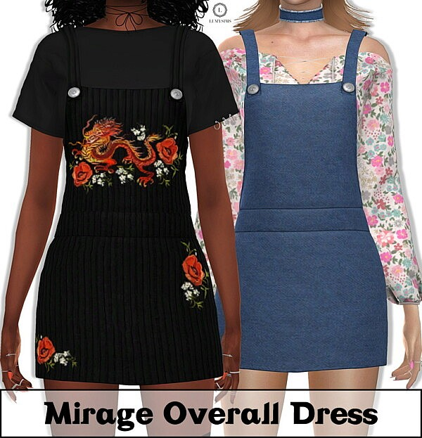Mirage Overall Dress sims 4 cc