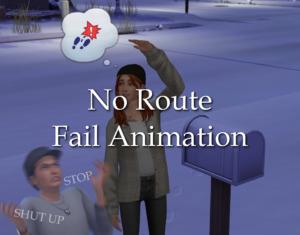 No Route Fail Animation