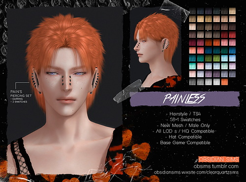 Painless Hair from Obsidian Sims