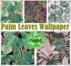 Palm Leaves Wallpapers sims 4 cc