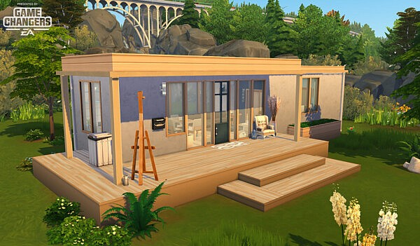 Parallelepiped House sims 4 cc