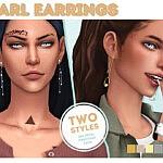 Pearl Earrings Set