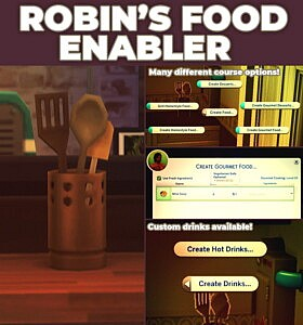 Robins Food Enabler sims 4 cc