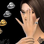 Round signet star thumb ring