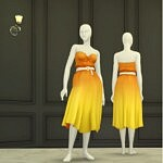 Seashell wave solid dress sims 4 cc