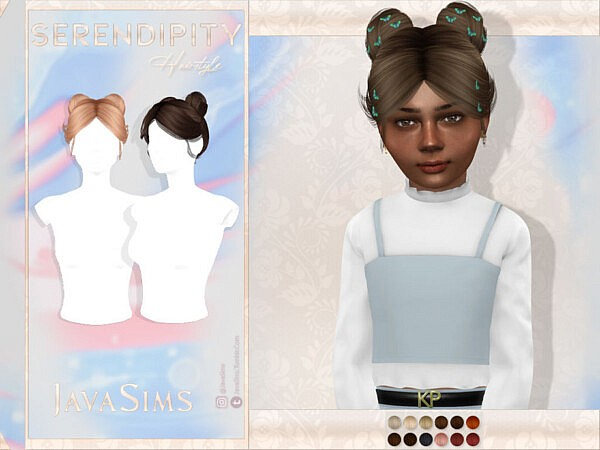 Serendipity Child Hairstyle by JavaSims from TSR