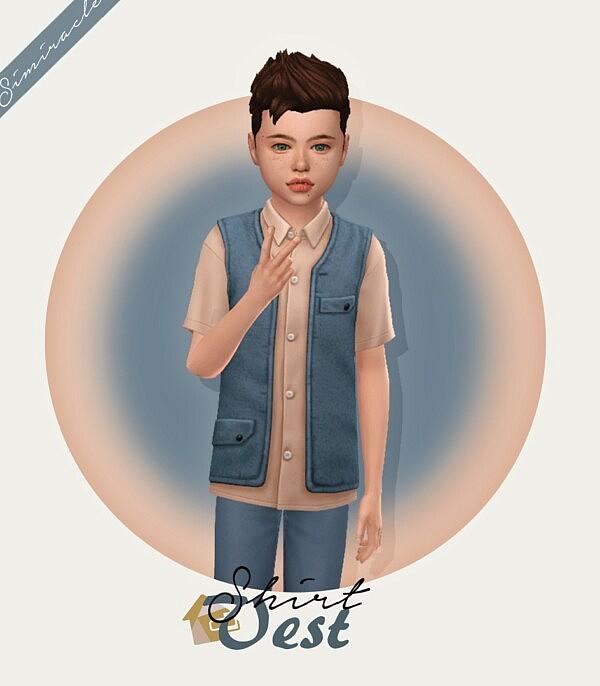 Shirt Vest sims 4 cc