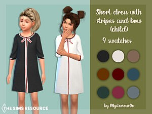 Short dress with stripes and bow child