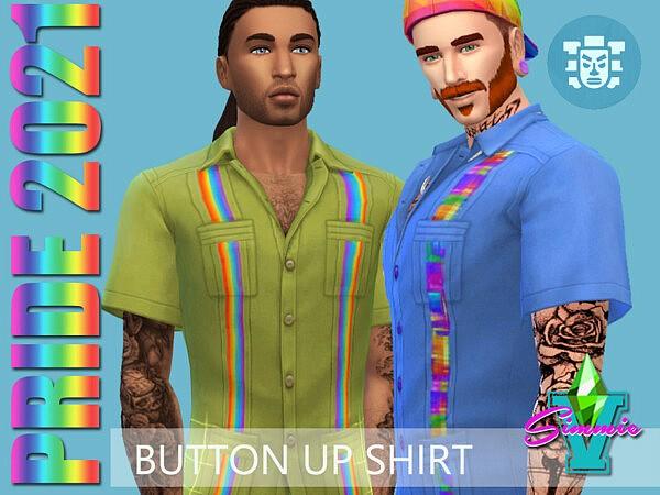 SimmieV Pride21 Button Up Shirt