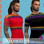 SimmieV Pride21 Peekaboo Tee