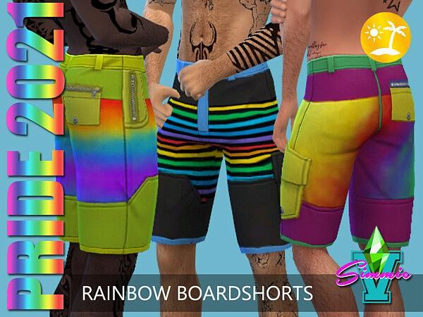 SimmieV Pride21 Rainbow Board Shorts