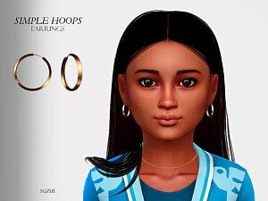 Simple Hoops Earrings Child