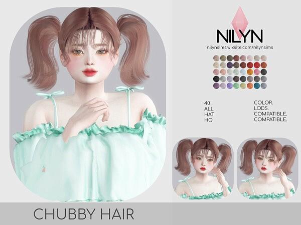 CHUBBY HAIR from Nilyn Sims 4