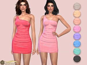 Slinky One Shoulder Ring Detail Dress