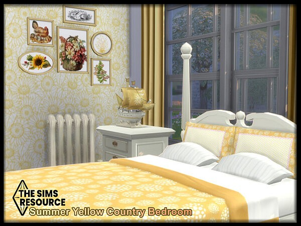 Summer Yellow Country Bedroom
