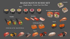 Sushi Set sims 4 cc