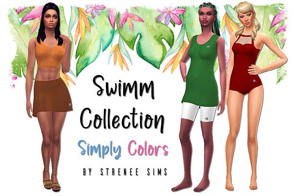 Swimm Collection Simply Colors sims 4 cc