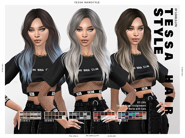Tessa Hairstyle by Leah Lillith from TSR