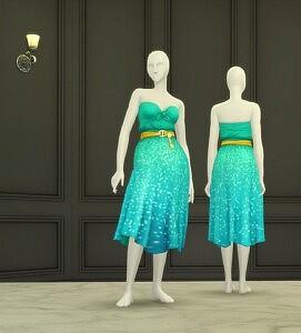 Twinkling Dress sims 4 cc