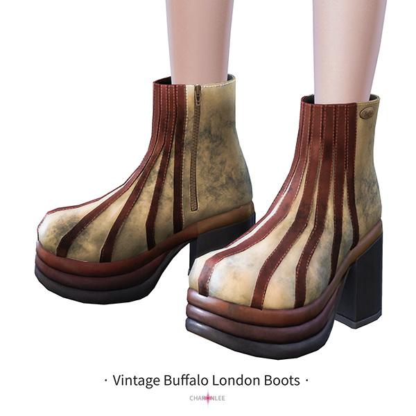 Vintage Buffalo London Boots sims 4 c