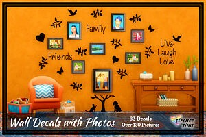 Wall Decals with Photos sims 4 cc