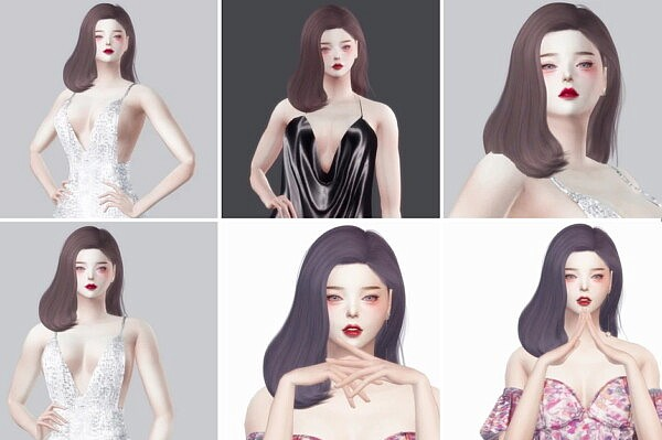 BLUEMOON HAIR from Nilyn Sims 4
