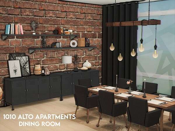 1010 Alto Apartments   Dining Room by xogerardine from TSR