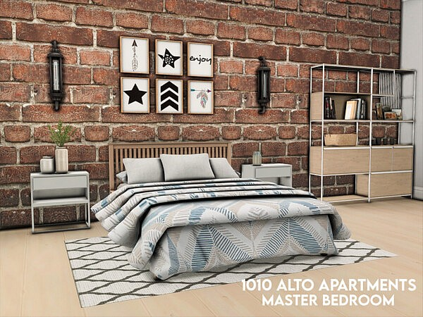 1010 Alto Apartments   Master Bedroom by xogerardine from TSR