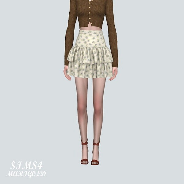 Sweet Tiered Frill Skirts from SIMS4 Marigold