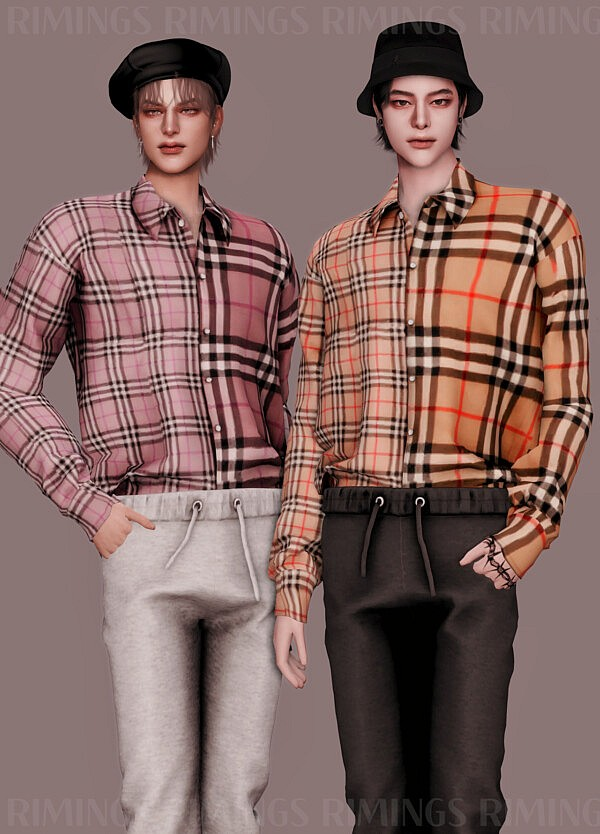 Vintage Check Shirt and Sweat Pants from Rimings
