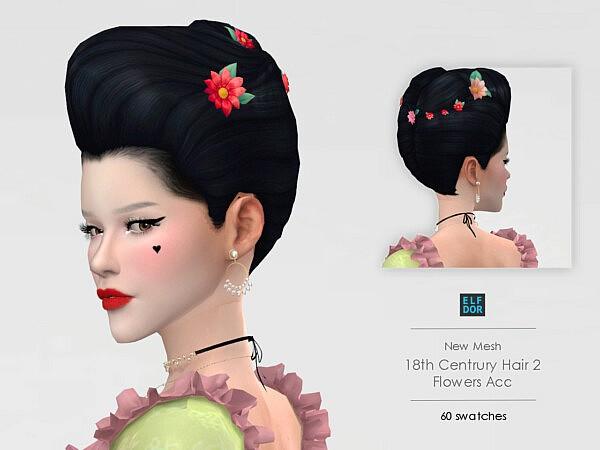 18th Century Hair Flowers Acc from Elfdor