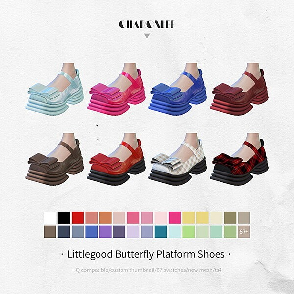 Butterfly Platform Shoes from Charonlee