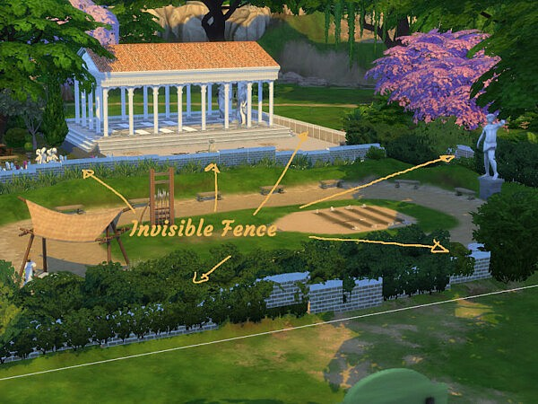 Hercules Stadion and Gym from KyriaTs Sims 4 World