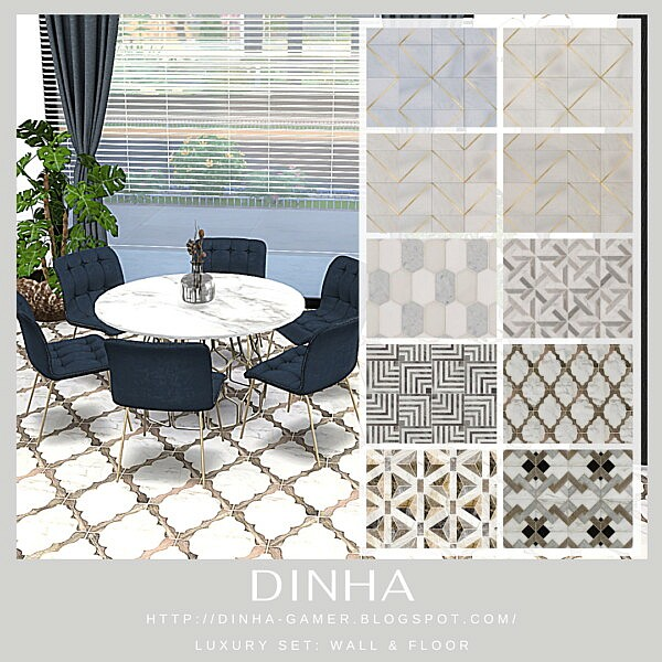 Luxury Tiles Wall and Floor from Dinha Gamer