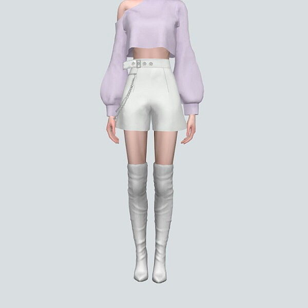 23 Chain Belt Hot Pants from SIMS4 Marigold