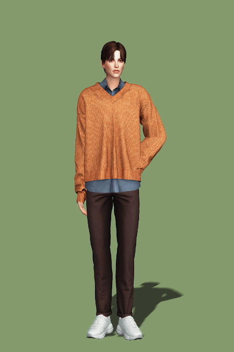 V Neck Sweater and Shirt III from Gorilla