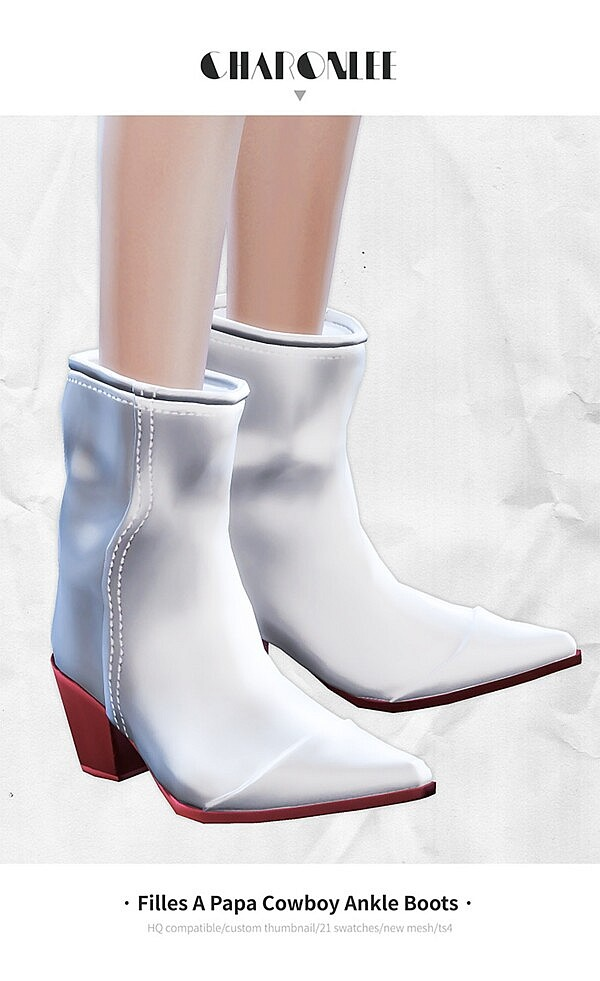 Papa Cowboy Ankle Boots from Charonlee
